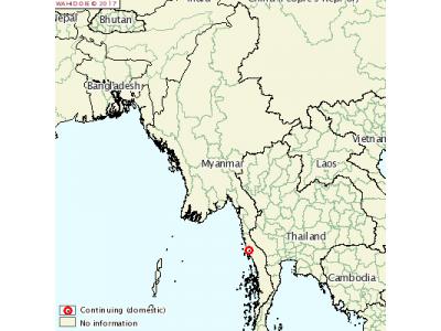 缅甸发生家禽高致病性禽流感疫情