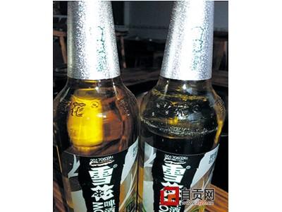 雪花啤酒标签现刮痕 四川龙潭工商、食药合力处理投诉举报
