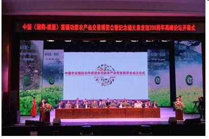 中国富硒功能农产品交易博览会在湖南桃源开幕