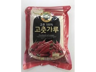 韩食药厅:将中断销售并回收食物中毒菌检测超标的辣椒粉产品