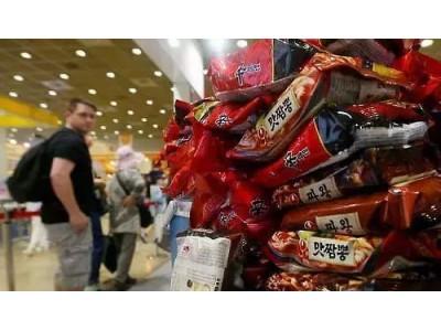 韩国泡面出口首破3亿美元 近三成被中国人买走