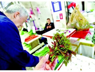 野菜扎堆上市成餐桌新宠 蔬菜摊主:许多都是人工种植