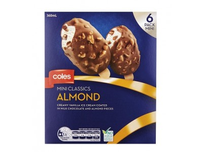 澳大利亚科尔斯超市召回迷你经典冰激凌