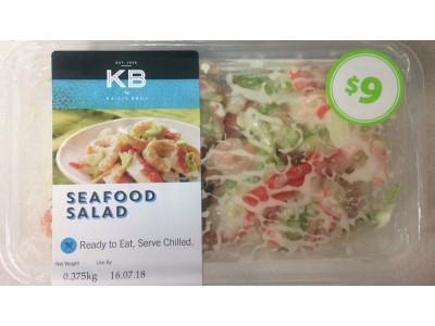 澳大利亚召回有标签问题的海鲜沙拉