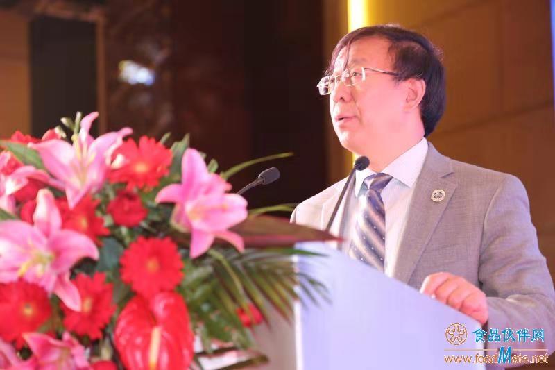 中国工程院院士、中国食品科学技术学会副理事长、北京工商大学校长孙宝国教授做大会报告