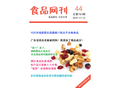 食品伙伴网食品网刊2019年第783期(2019.11.12)