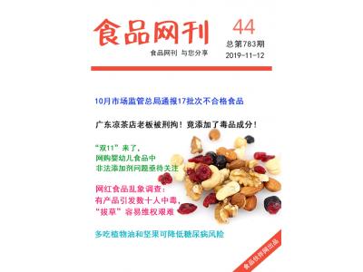食品伙伴网食品网刊2019年第783期(2019.11.12)