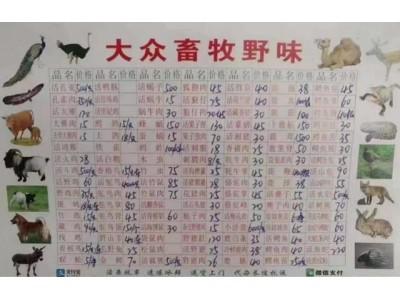 """武汉华南海鲜市场内""""野味""""店铺菜单热传,曾被列入经营异常名录"""