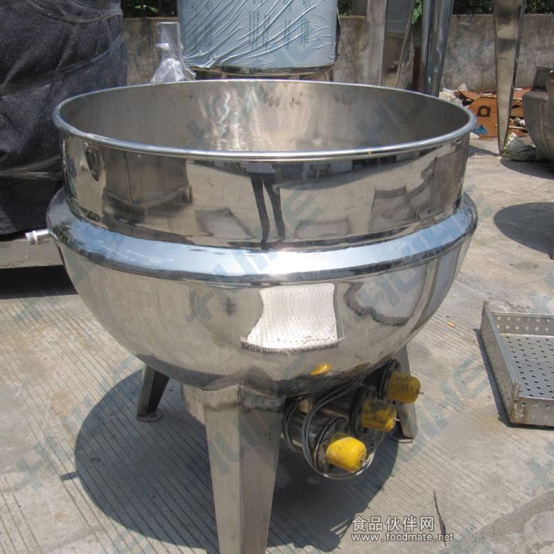 立式/固定式不锈钢夹层锅结构图