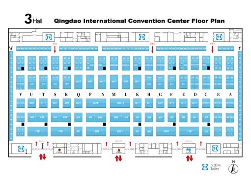 与包装设备展览会展平面图