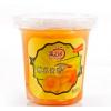 塑料杯糖水黄桃条罐头