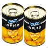 易拉罐糖水黄桃对开罐头