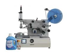 不干胶贴标机LH1101B半自动搓滚式平面贴标机