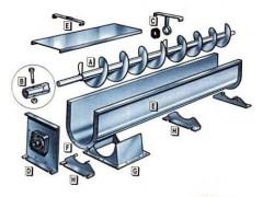 u型槽式螺旋输送机,半圆型螺旋送料机