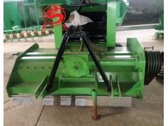 麦草秸秆收割粉碎回收打捆机视频