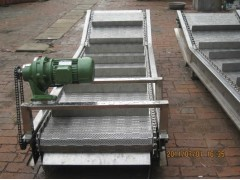 定做果蔬清洗线不锈钢网带输送机 高优质工件清洗除尘网链输送机