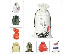 环保棉布袋 大米包装亚麻布袋 便捷携带旅游麻布大米包装袋