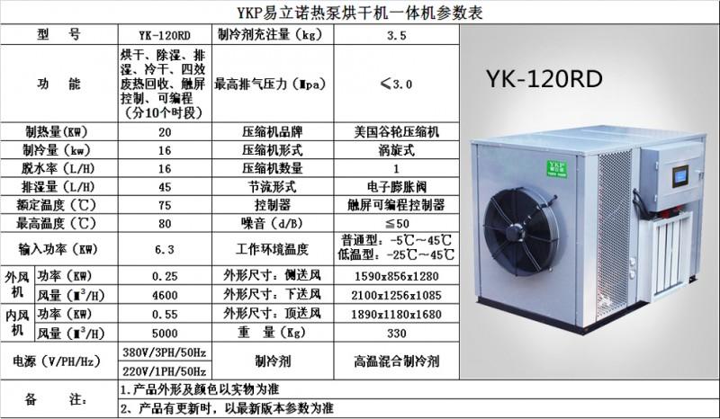 新YK-120RD 参数图