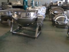 全不锈钢可倾式电加热刮底搅拌夹层锅