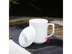 纯白盖杯定制,白色茶杯定制厂家