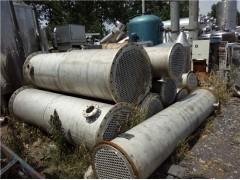 出售二手不锈钢冷凝器,二手不锈钢反应釜