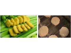 鱼香汉堡肉饼上面包屑机 上粉上屑机 自动挂粉机