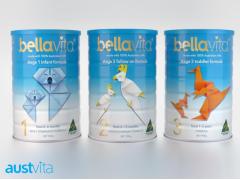 澳大利亚贝拉维他婴幼儿奶粉1-3段原装进口