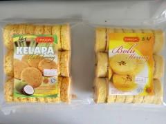 印尼进口海绵酥脆饼干椰子味原味