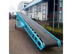 仓库煤块皮带输送机 稻谷装卸皮带输送机 圆管输送机