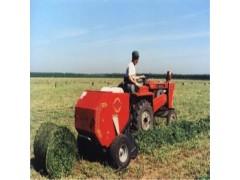 牵引式小麦秸秆打捆机价格 圆捆打捆机操作视频