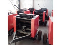 牵引式秸秆圆捆机 小麦秸秆打捆机操作视频