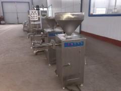 肉粒肠 气动定量扭结灌肠机 台湾烤肠灌肠加工设备