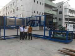日产10吨直冷制冰机投价格方案,20吨直冷冰砖机价格