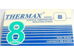 8格B型热敏试纸英国THERMAX温度美71-160℃测温纸