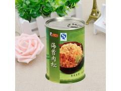 可按客户要求定制 广东圆形金属食品罐 海苔肉松密封包装圆罐