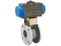 Q671F对夹薄型气动球阀 气动球阀厂家价格 质保一年