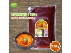 年糕火锅调料(辣味)圃绿纳韩餐酱料可定制研发2.5kg*6