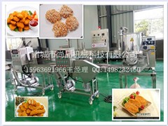 盐酥杏鲍菇裹浆裹粉油炸机 油炸海鲜油炸机 尚品机械