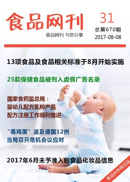 食品网刊2017年第670期