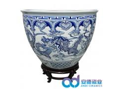 陶瓷荷花缸,陶瓷风水缸,陶瓷养鱼缸
