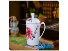 活动礼品陶瓷茶杯  广告促销陶瓷茶杯  景德镇陶瓷茶杯