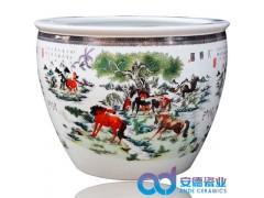 景德镇陶瓷大缸 庭院装饰陶瓷大缸 陶瓷风水缸