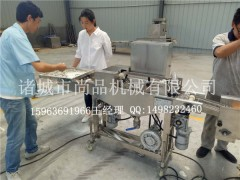 川香鸡柳上面包糠机 油炸机 自动化设备