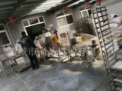 面包鱼块裹浆机 油炸机 速冻调理品加工设备