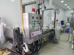 裹浆鸡块裹浆机 裹糠机 油炸机 沥油机 尚品机械定做成套设备