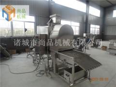 香酥玉米粒专用滚筒上粉机 自动除面渣 配套油炸机