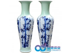 商务礼品陶瓷大花瓶 景德镇陶瓷大花瓶 青花粉彩陶瓷大花瓶