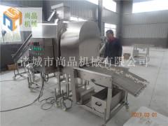 龙利鱼鱼块滚筒裹粉机 滚筒上粉机 油炸机 尚品机械专业制造