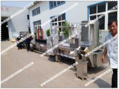 鳕鱼块油炸机 全自动炸鱼块机 自动除渣 尚品机械