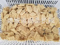 菱形竹签豆腐串油炸机 循环油油炸生产线 尚品机械